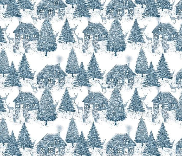 Christmas Village Toile