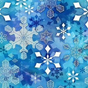 Aurora snowflakes