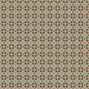 Trippy Symmetricall Groovy Boho Funky Ornate Red and Green Christmas Pattern