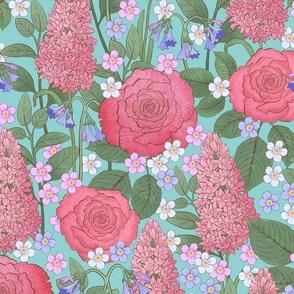 Large-Rose Floral