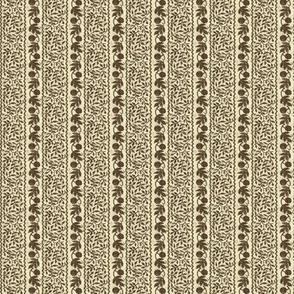 Brown & Cream Stripe Calico
