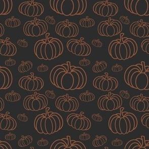 Chalkboard October Pumpkin