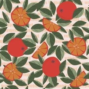 Day 3 - Orange Grove: medium scale for home décor, soft furnishings and apparel.