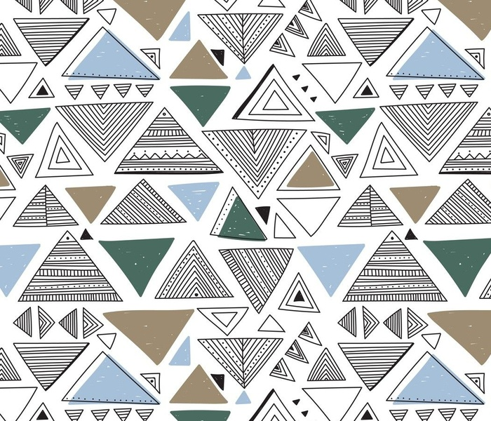 abstract seamless pattern with ornate triangles
