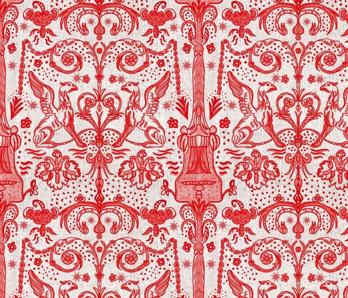 Magical Griffen Christmas Toile
