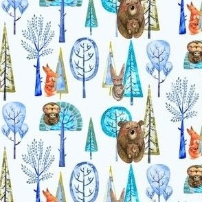 Winter Forest Animals Small