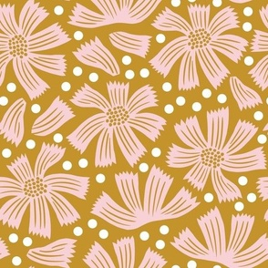 Another pretty floral, mustard large
