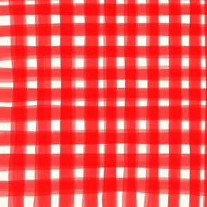 Gingham Red Vichy double lines soft