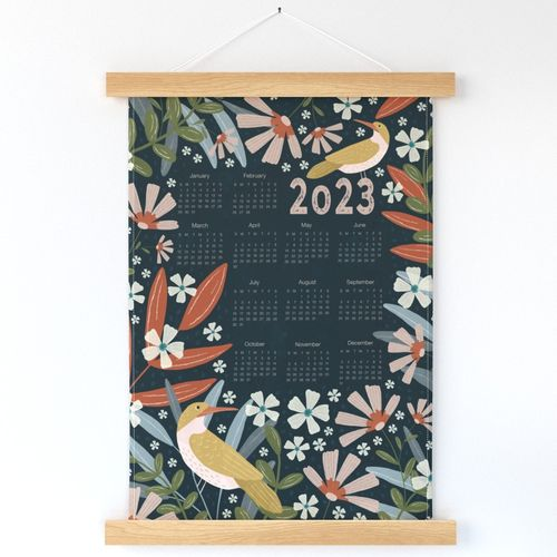 2022 Calendar - Midnight Garden
