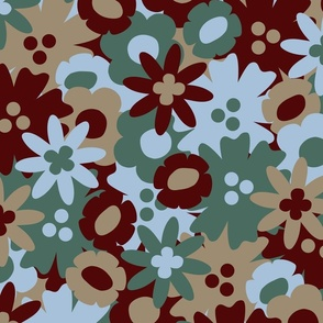Flower Power Ditsy: Pine