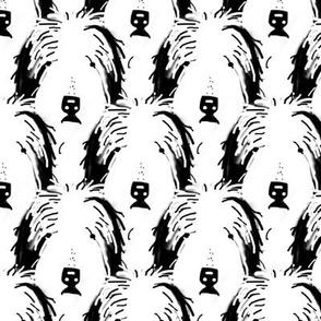 Shaggy_dog_-__heads_-_black_and_white
