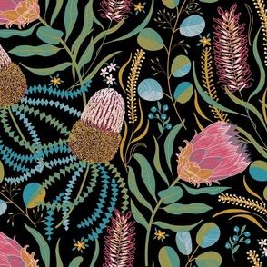 BANKSIA PROTEA JOY Limited Color Palette 4 colors + black