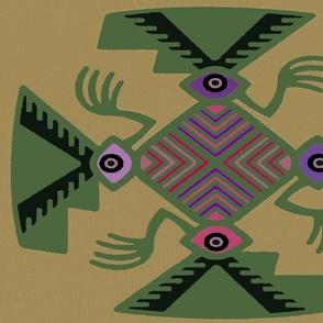 Inca Tribal Pajaro Spirits - Green