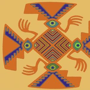 Inca Tribal Pajaro Spirits - Goldenrod