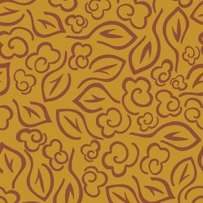 Scattered Roses - Mustard