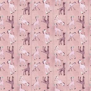 Pink Polka Dot Baby Giraffes
