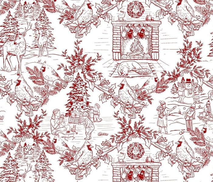 Traditional Christmas Toile