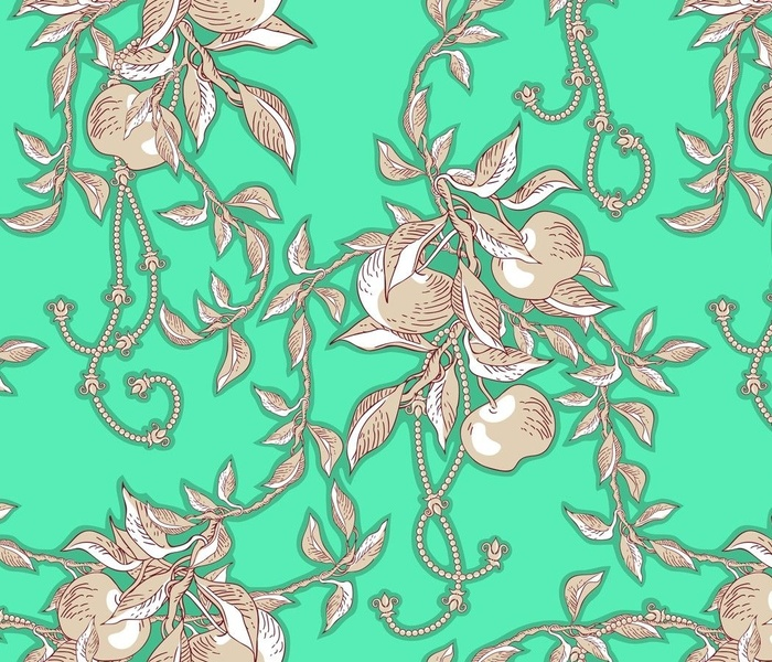 Toile apple branches, large