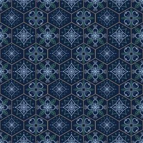 Floral_hexagon_earth_tones