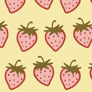 Cutie Strawberry Pattern Large