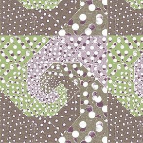 snails trail quilt pastel