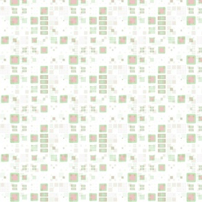 Funky Retro Mod Geometric Pastel Red and Green Christmas Pattern