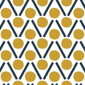 Petal Dancing Dots Mustard / Black