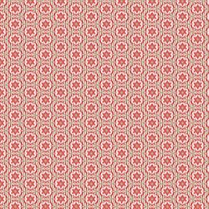 Groovy Boho Hippie Red and Green Symmetrical Christmas Kaleidoscope Ikat