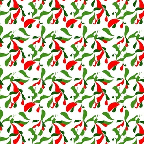 Funky Mod Retro Boho Red and Green Christmas Abstract