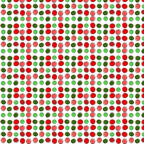 Groovy Retro Modern Vibrant Red and Green Christmas Spot