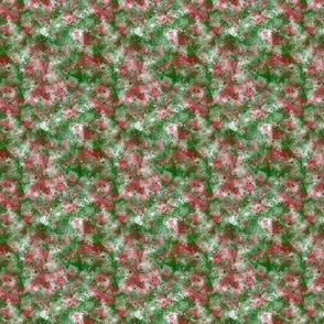 Grungy Groovy Boho Red and Green Christmas Squares