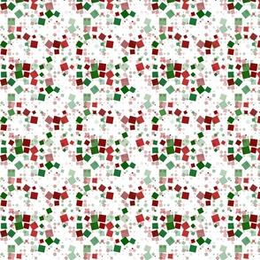 Funky Bold Retro Mod Festive Christmas Squares