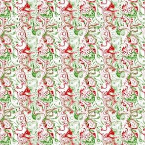 Swirly Squiggle Trippy Groovy Boho Christmas Marble