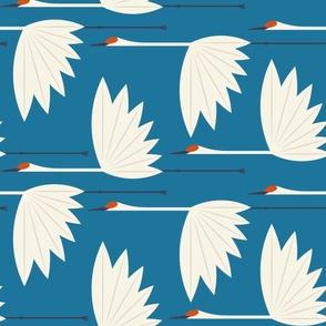 Sandhill Cranes - Classic Blue - XL