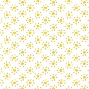 sunshine/yellow on cream