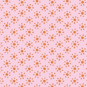 sunshine/orange on pink