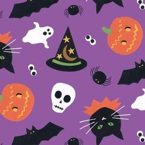 Vintage Halloween Purple
