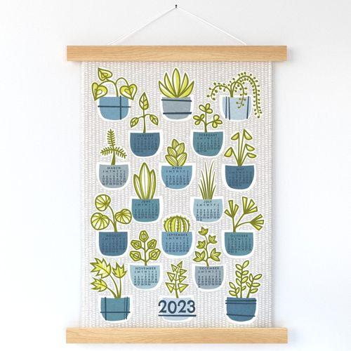 2022 planted calendar tea towel