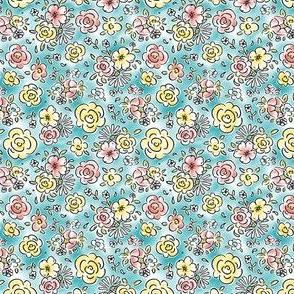 Dainty Details - Watercolor Floral Blue