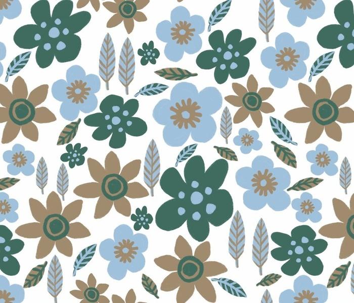 Fall Flowers in Blue
