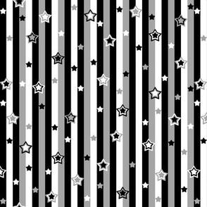 Starry Starry Stripes Grey