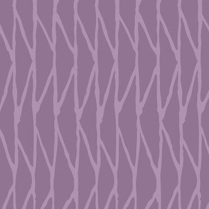 Triangle - Hand-Drawn  Geometric - Mauve - Medium Scale