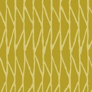 Triangle - Hand-Drawn  Geometric - Mustard - Medium Scale