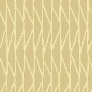 Triangle - Hand-Drawn  Geometric - Beige - Medium Scale