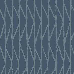 Triangle - Hand-Drawn  Geometric - Slate Blue - Medium Scale