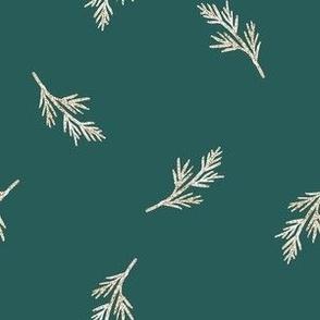 Christmas Gold Ferns MEDIUM