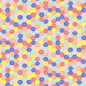 Summery Hexagons - VERY SMALL