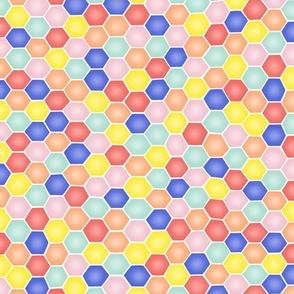 Summery Hexagons - SMALL