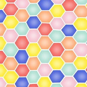 Summery Hexagons - LARGE