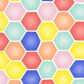 Summery Hexagons - EXTRA LARGE